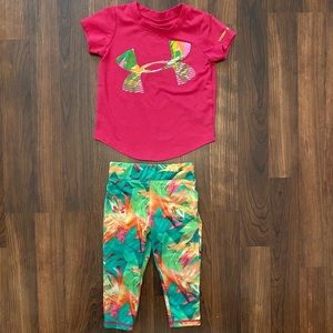 Under Armour matching set, 18M girl